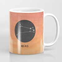 aries Mugs featuring Aries by snaticky