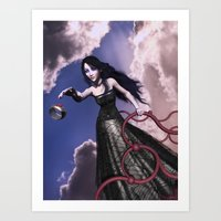 lord of the ring Art Prints featuring Ring by Britta Glodde