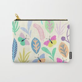 Flower and Butterfly II Carry-All Pouch