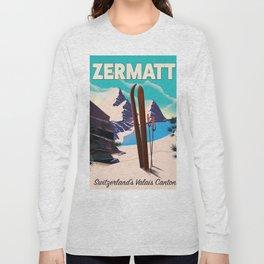 Zermatt Ski Switzerland's Valais canton Long Sleeve T-shirt