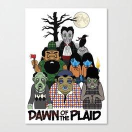Dawn of the Plaid Canvas Print