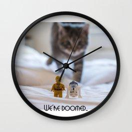 We're Doomed... (wide) Wall Clock