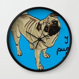 I Pug You Wall Clock
