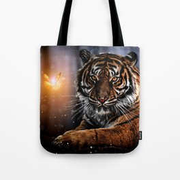 The Tiger and the Magic Butterfly by GEN Z Tote Bag