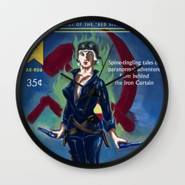 """Tales of the White Russian"" Book Cover Wall Clock"