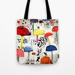 Mein Ein, mein Alles - Mushrooms Abstract Botanical Art - cute animal print - Leopard Muster Tote Bag