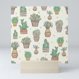 Potted Plants Pattern Mini Art Print