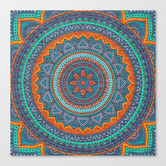 Hippie mandala 75 Canvas Print