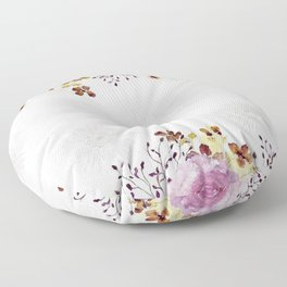 Roses and Gerberas Floor Pillow
