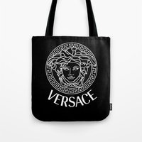 versace Tote Bags featuring Versace by Nestor2