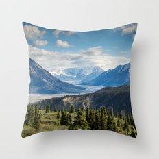 Mountain Landscape # sky Throw Pillow