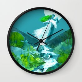 Dancing with a nymph Wall Clock
