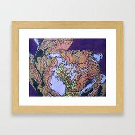 Batik Flower Framed Art Print