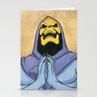 skeletor Stationery Cards featuring Saint Skeletor by Ghirigori Lab