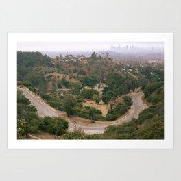 Los Angeles Under Smoke Art Print