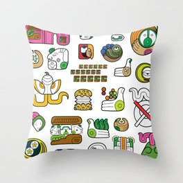 New Maya Language Throw Pillow