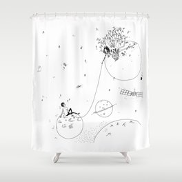 by the stars Shower Curtain