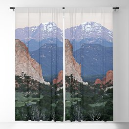 Sunrise at Garden of the Gods and Pikes Peak Blackout Curtain