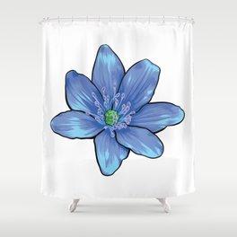 Blue Gentian Flower Shower Curtain