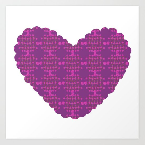 pattern with heart Art Print