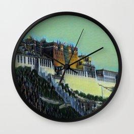 China Potala Palace Artistic Illustration Swamp Style Wall Clock