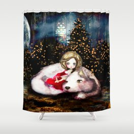 Houndling Shower Curtain