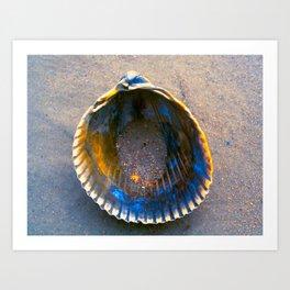 Sand in a Seashell Art Print