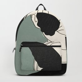 BLACK BUTTERFLY Line Drawing Backpack