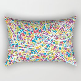 Berlin Germany City Map Rectangular Pillow