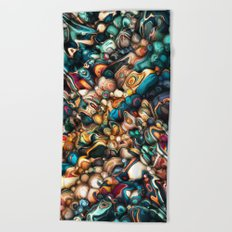 Abstract Texture And Colors Beach Towel