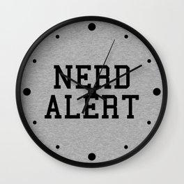 Nerd Alert Funny Geek Quote Wall Clock