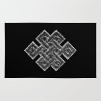buddhism Area & Throw Rugs featuring Many Paths of One Humanity - 1 of 7 - Buddhism  by ART.KF