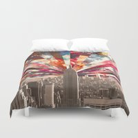 city Duvet Covers featuring Superstar New York by Bianca Green