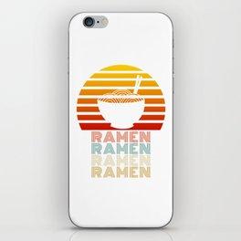 Ramen Life Japanese Noodles Vintage Retro Style Gift iPhone Skin