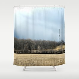 Talking with God ~ Highway 401 Landscape Series   Nadia Bonello Shower Curtain