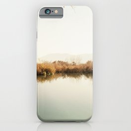Autumn Lake Scene iPhone Case