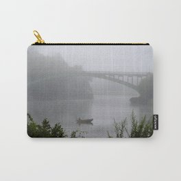 Foggy Fishing Day on the Delaware River Carry-All Pouch