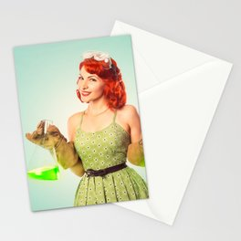 Distractingly Sexy Scientist Pinup Stationery Cards