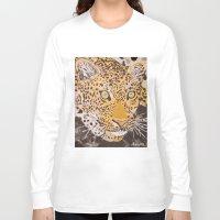 leopard Long Sleeve T-shirts featuring Leopard by stevesart