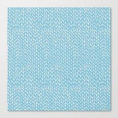 Hand Knit Sky Blue Canvas Print