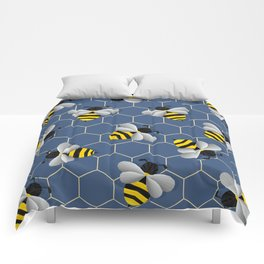 Bumbled Blue Comforters