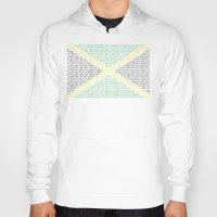 jamaica Hoodies featuring digital Flag (Jamaica) by seb mcnulty
