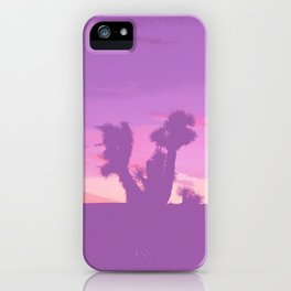 Lavender Joshua Sunset - Pop_Art iPhone Case