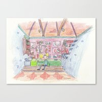 hey arnold Canvas Prints featuring Hey Arnold! by Osbaston