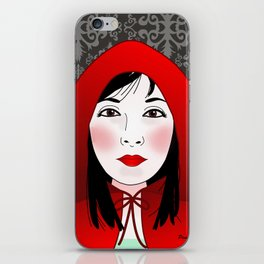 Little riding red hood iPhone Skin