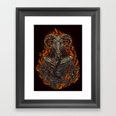 lord of goat Framed Art Print