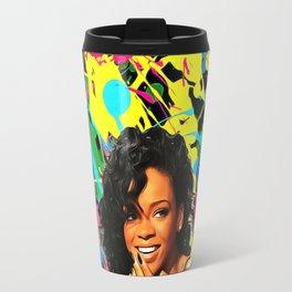 Rihanna - Celebrity Art Travel Mug