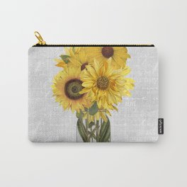Vintage Sunflower Carry-All Pouch