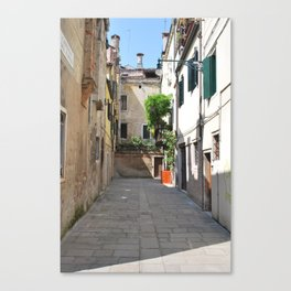 Venetian Courtyard Canvas Print