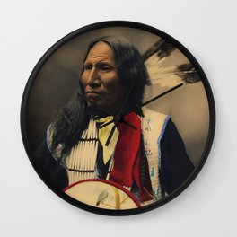 Strikes With Nose, Oglala Sioux Chief 1899 Wall Clock
